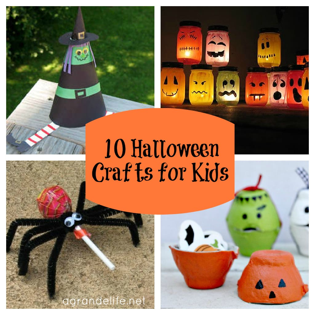 10 halloween crafts for kids - Halloween Decorations For Kids To Make