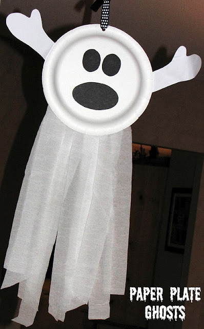 paper plate ghosts