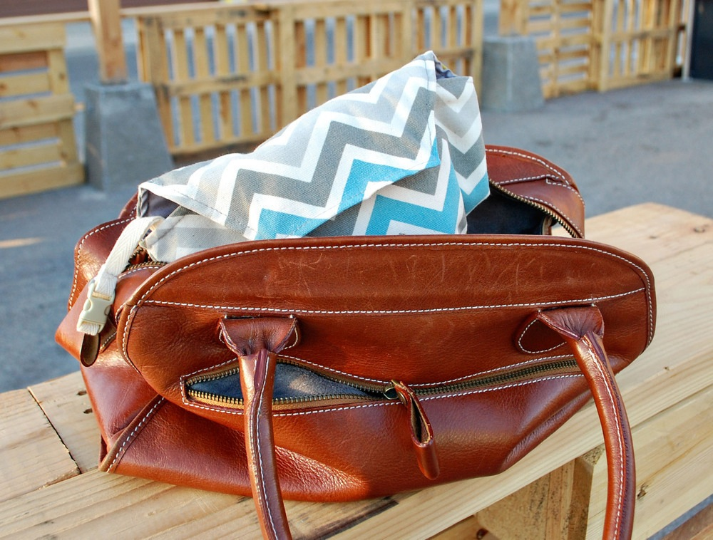 Gray Turquoise Chevron Camera Bag Camera Coats