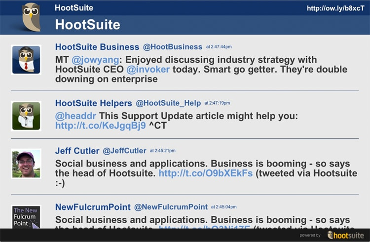 hootsuite hootfeed extension