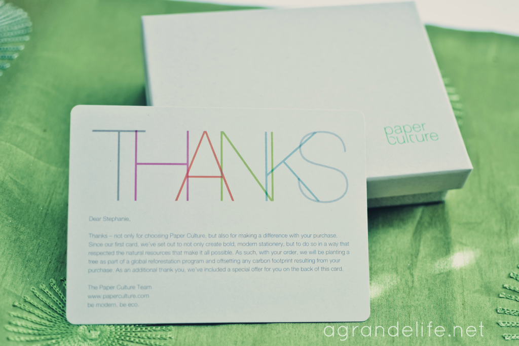 paper culture thank you card