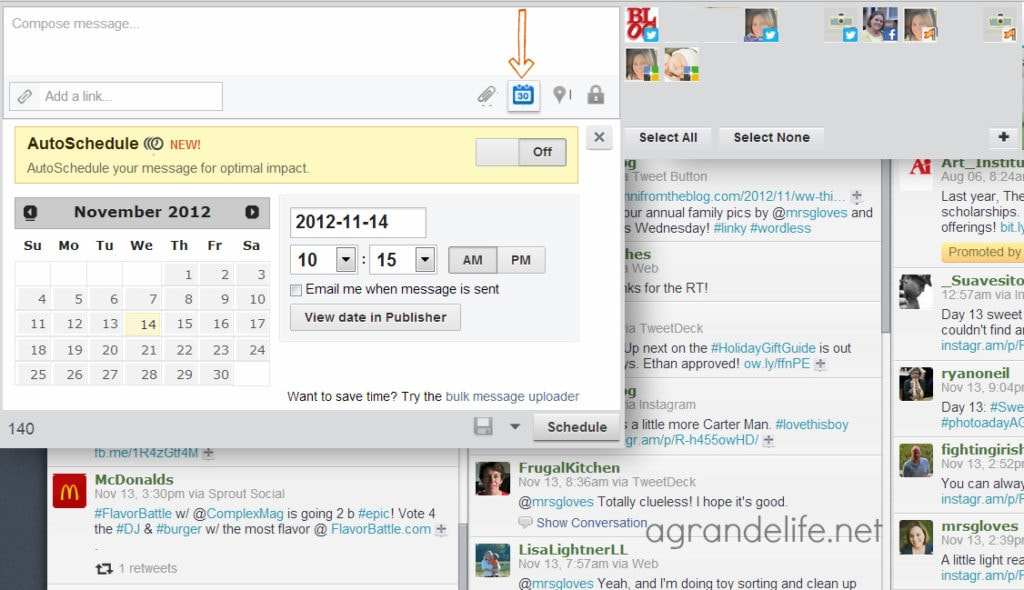 schedule a tweet in hootsuite