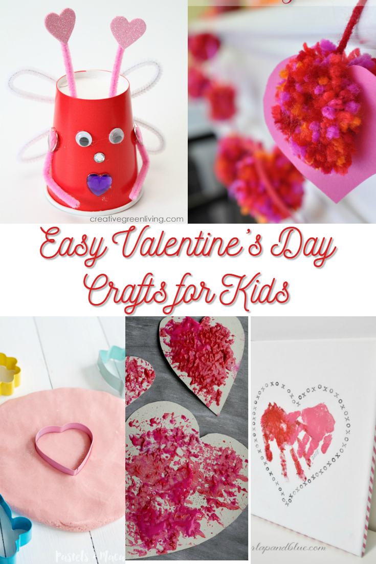 Easy valentine 39 s day crafts for kids for Valentines day toddler crafts