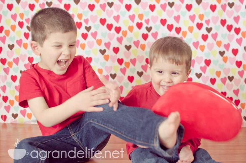 DIY Valentine's Day Photography Backdrop