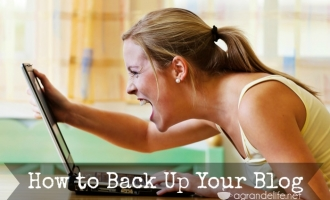 how to back up your blog