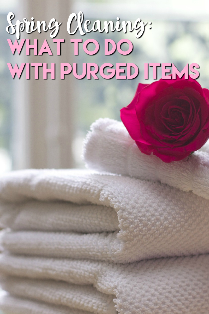 spring cleaning what to do with purged items