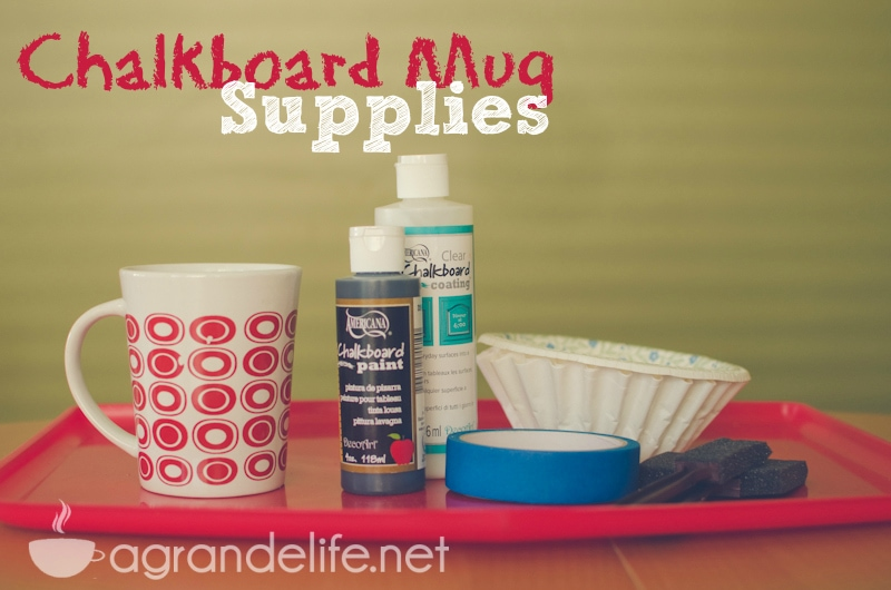 diy chalkboard mug supplies