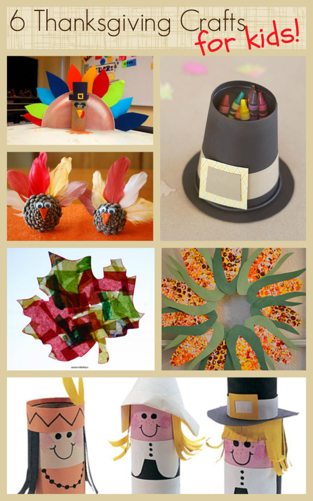 6 thanksgiving crafts for kids