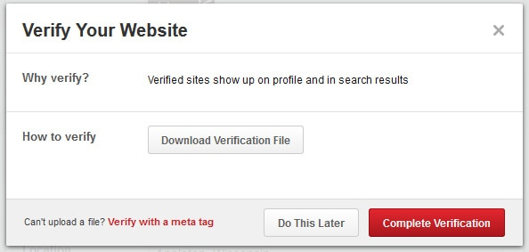 verify-pinterest-website