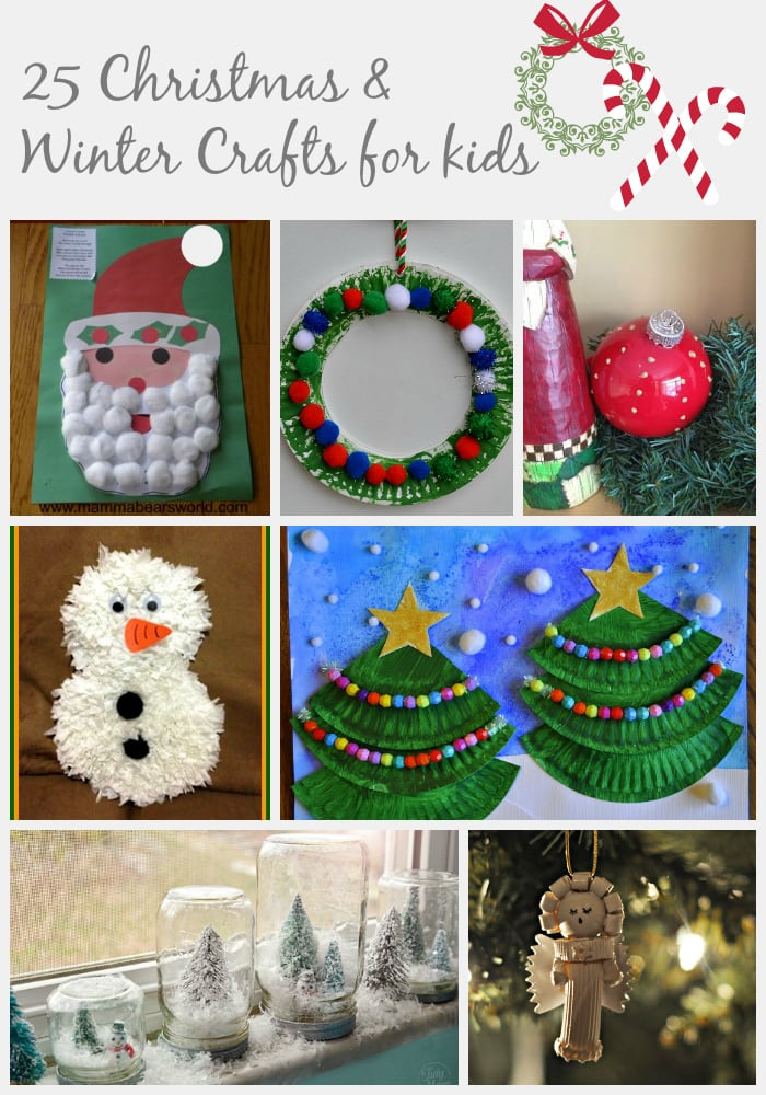 25 christmas winter crafts for kids