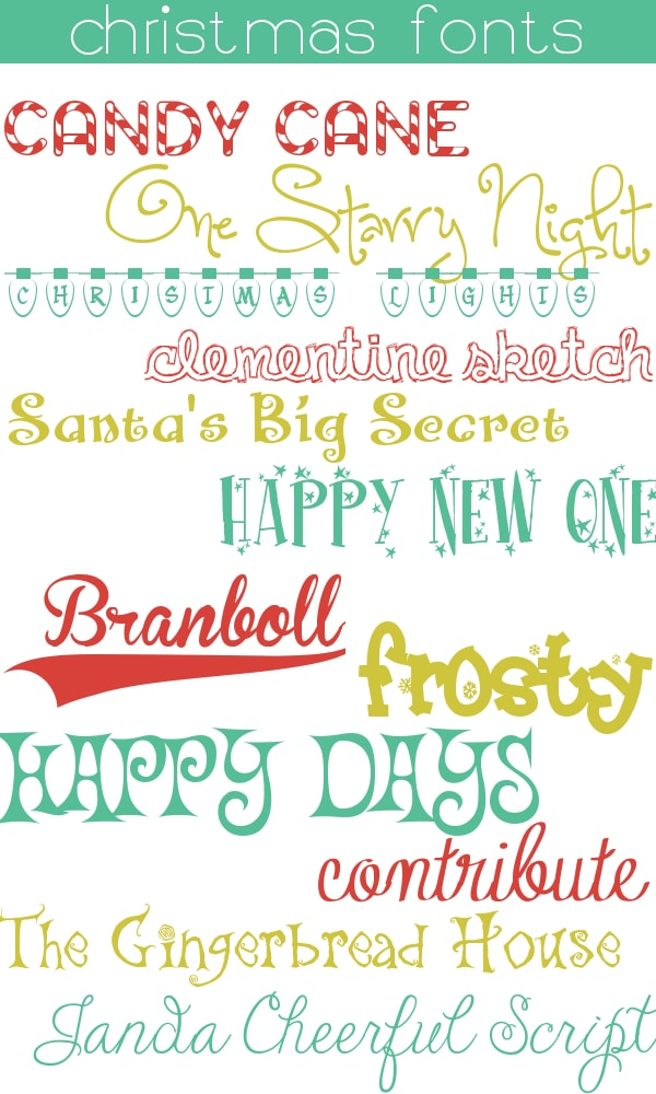 12 free christmas fonts