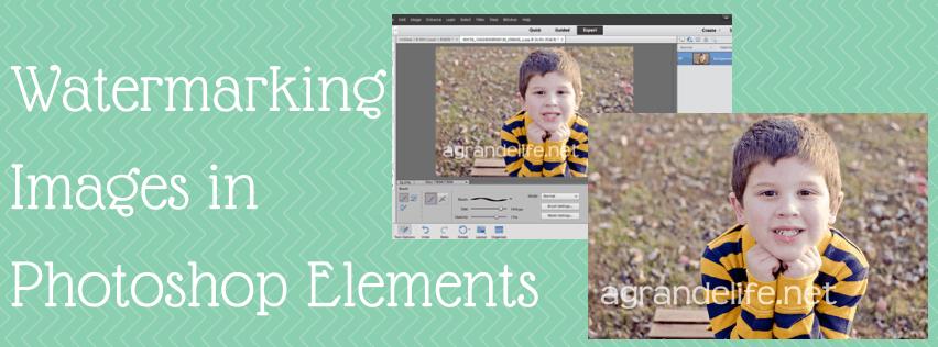 Watermarking Images inPhotoshop Elements
