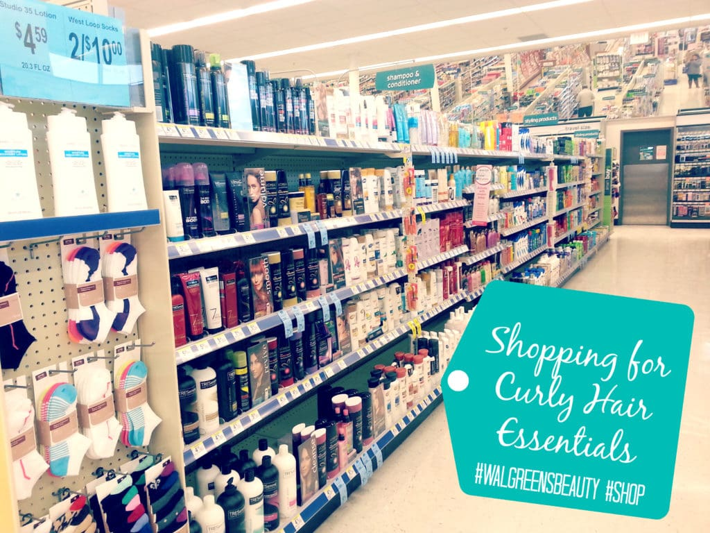 shopping for curly hair essentials #walgreensbeauty #shop