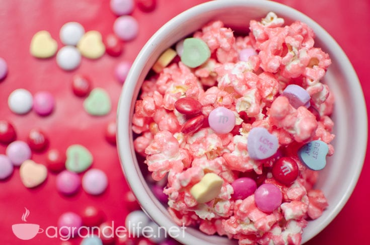 Valentine's Day Candied Popcorn