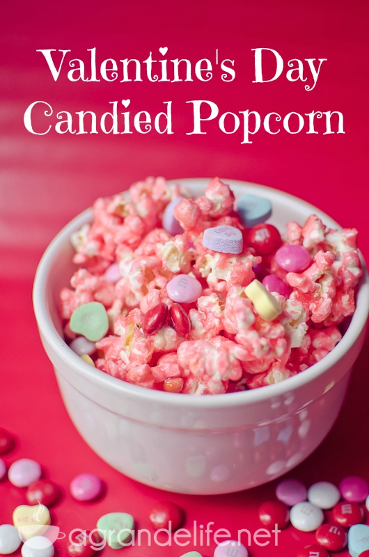 valentines day candied popcorn pinterest