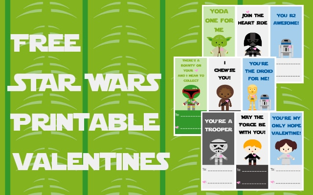 Free Star Wars Printable Valentines A Grande Life – Star Wars Valentines Day Cards