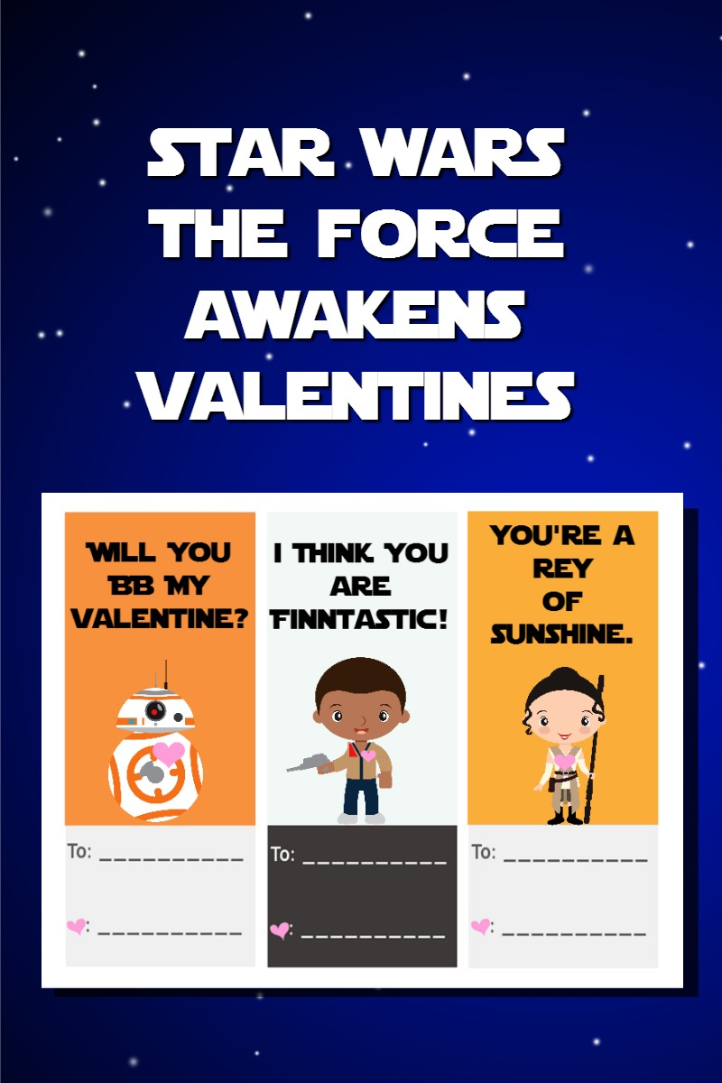 star wars the force awakens valentines