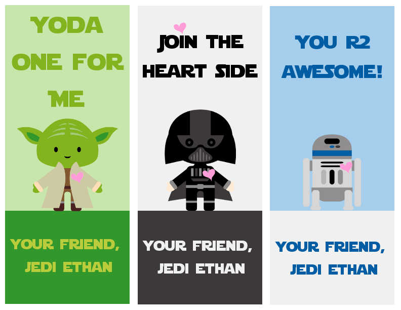 Free Star Wars Printable Valentines A Grande Life – Star Wars Valentine Cards