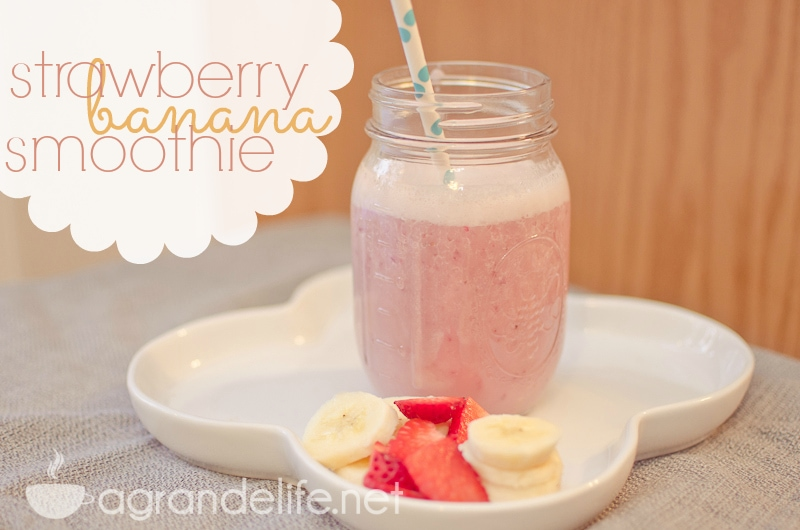 Strawberry Banana Almond Milk Smoothie