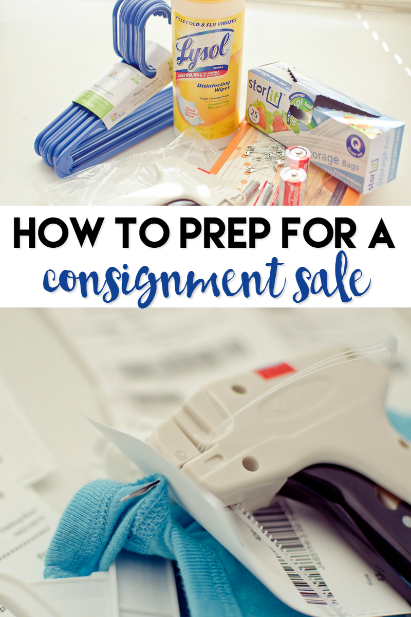 how to prep for a consignment sale