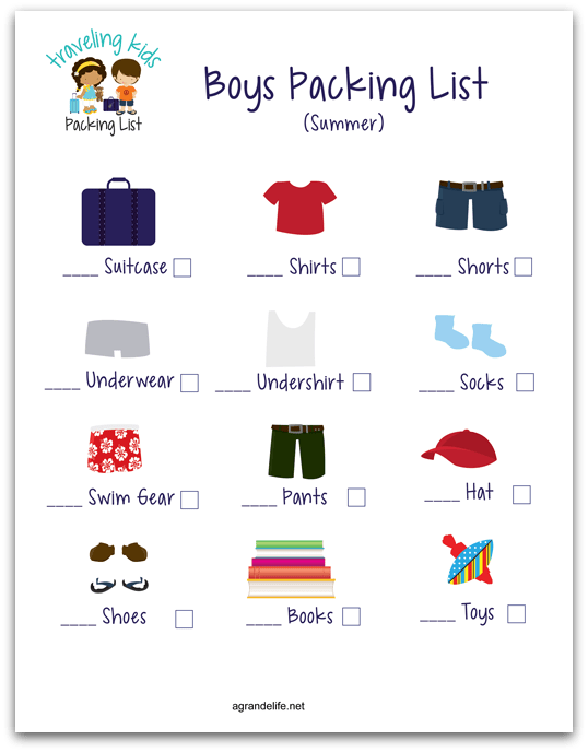 agrandelife traveling kids packing list boy shadow