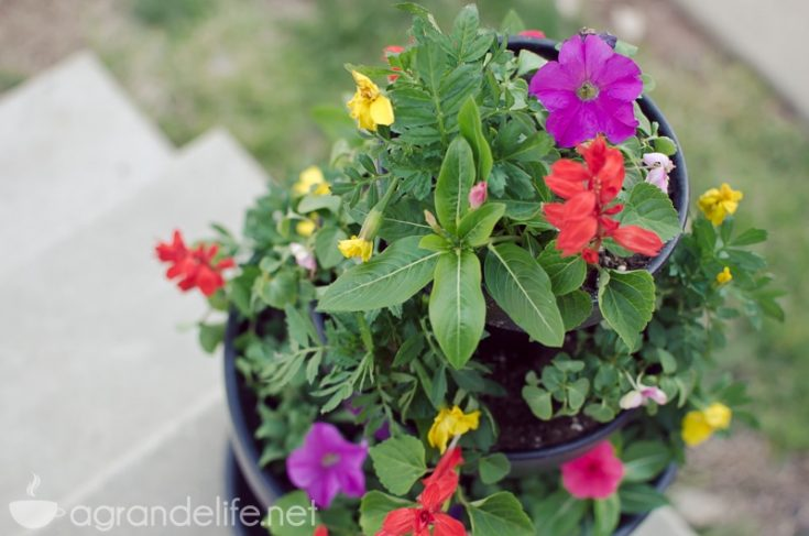 DIY Stacked Flower Pots