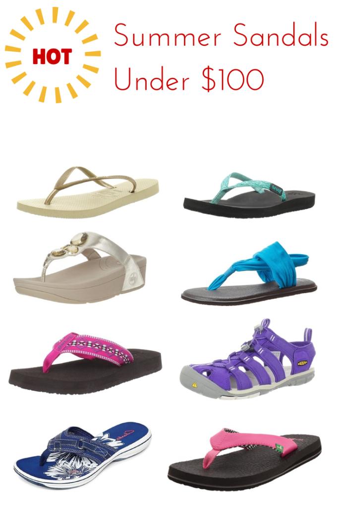 Hot Summer Sandals Under $100