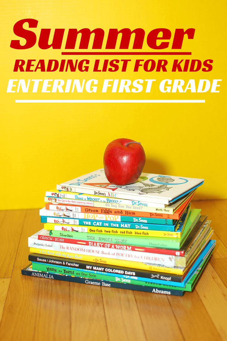 summer reading list for kids entering first grade