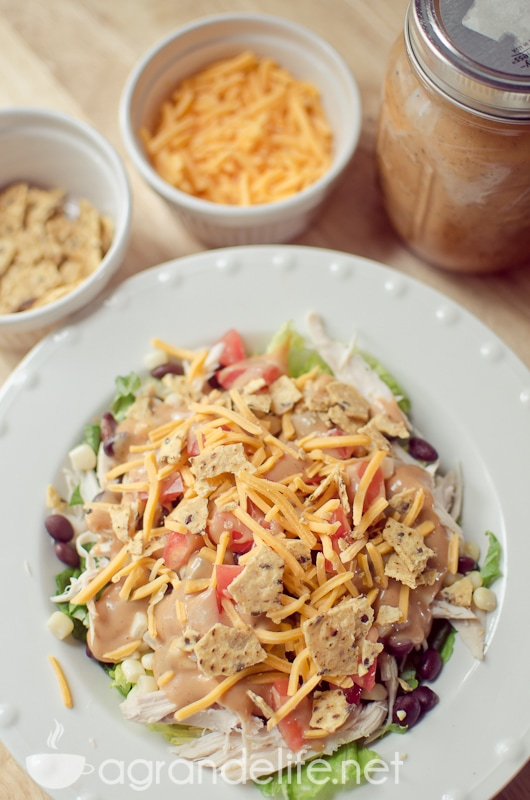 crunchy bbq ranch chicken salad-11
