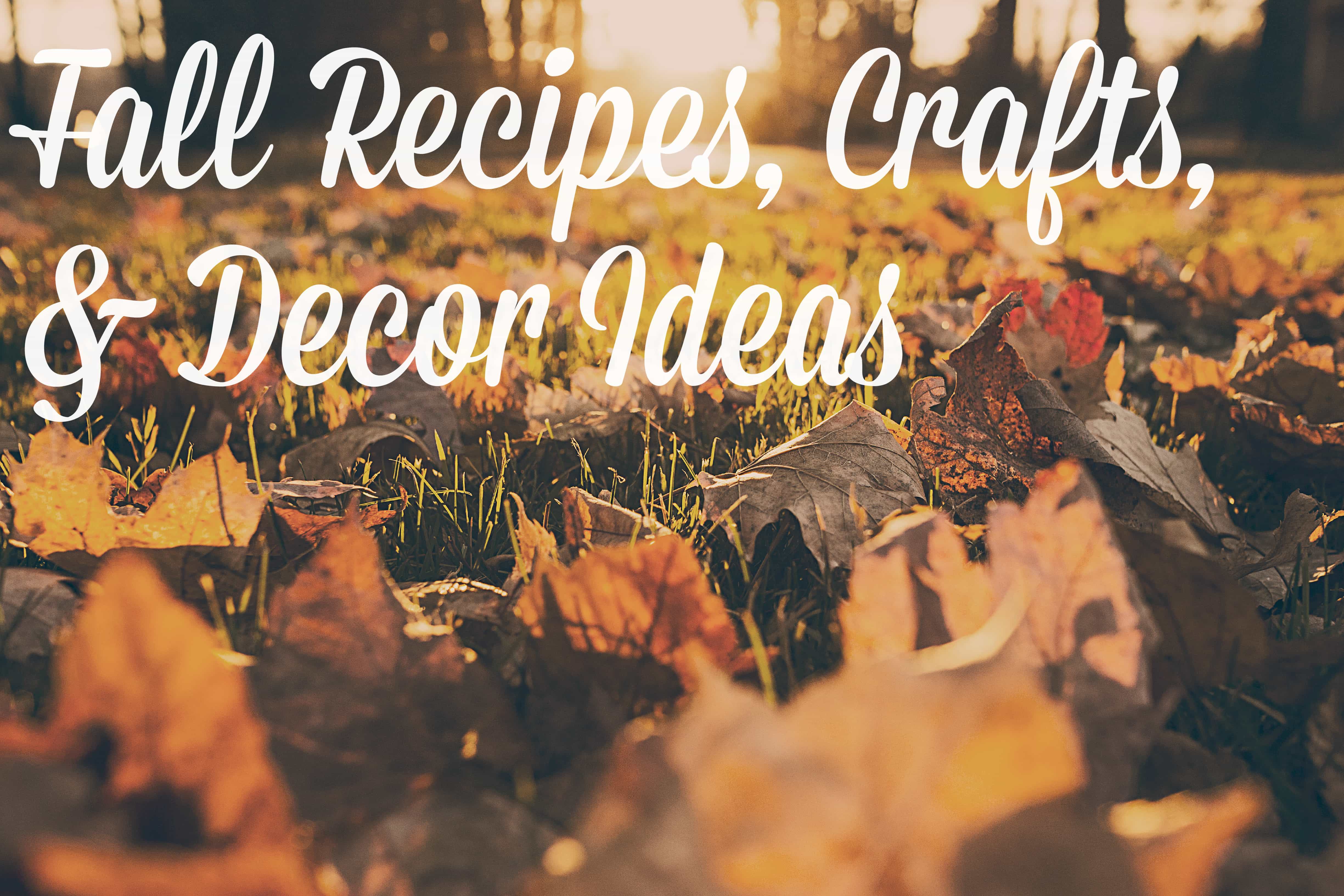 fall recipes crafts and decor ideas