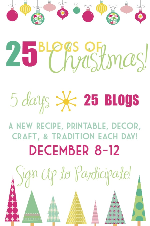 25 blogs of christmas signup