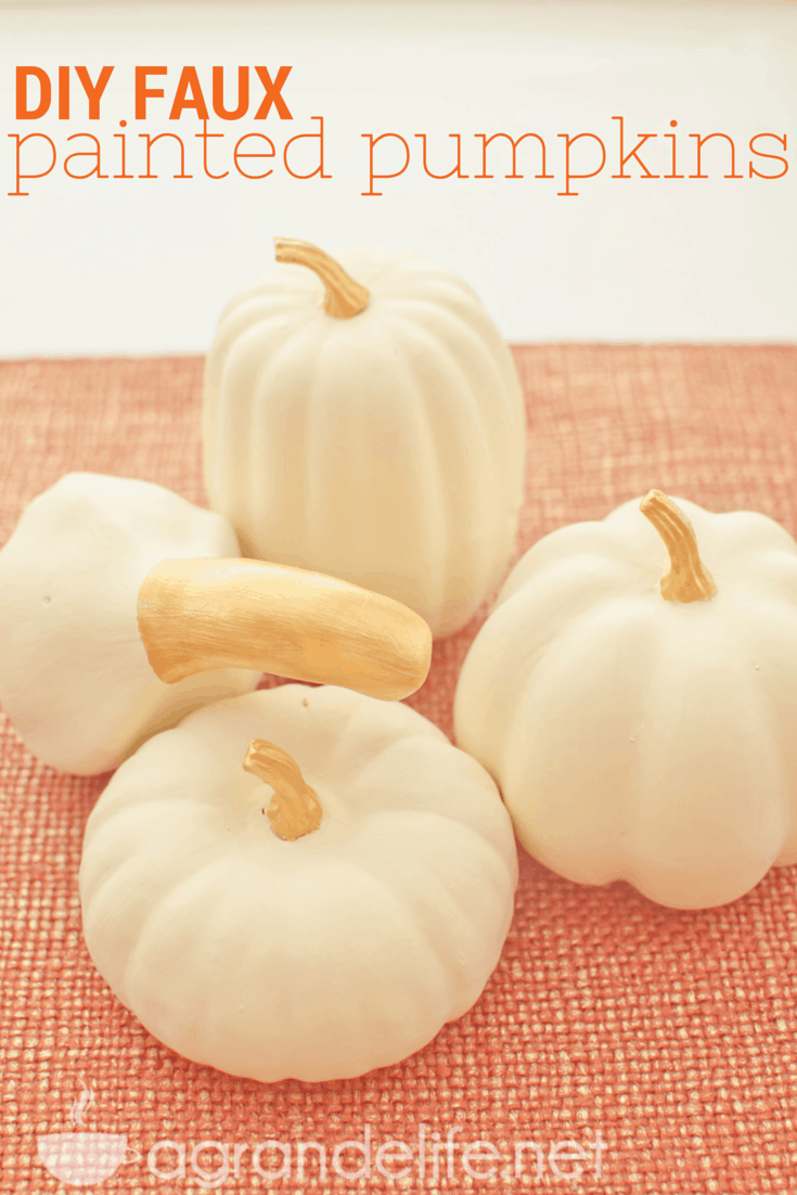 diy faux painted pumpkins