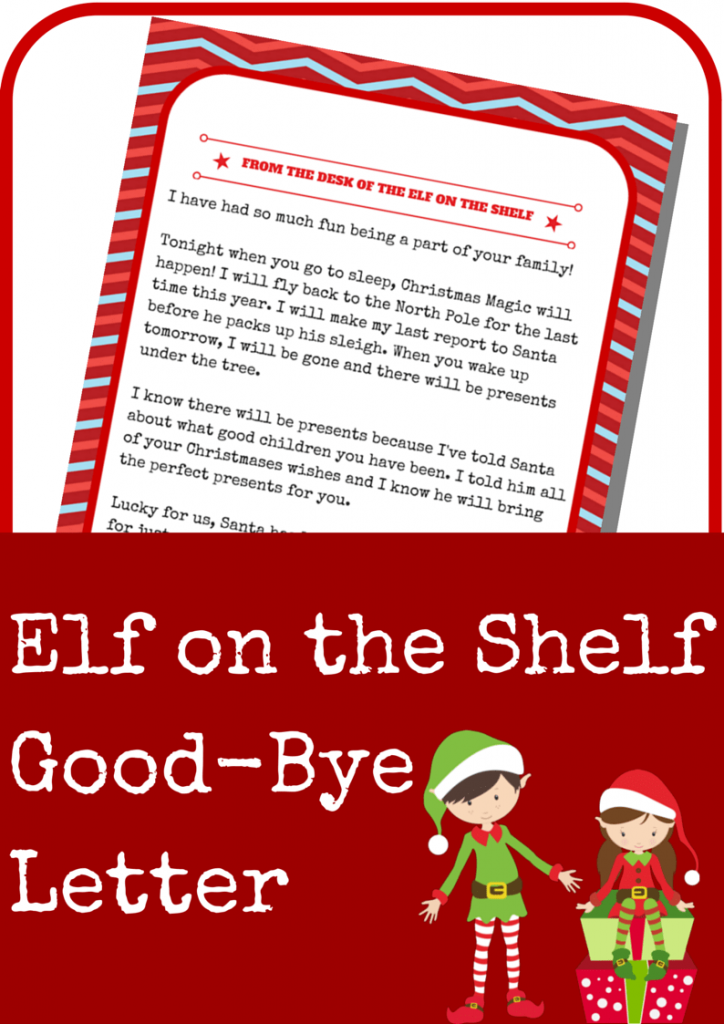 Elf On The Shelf Good Bye Letter A Grande Life