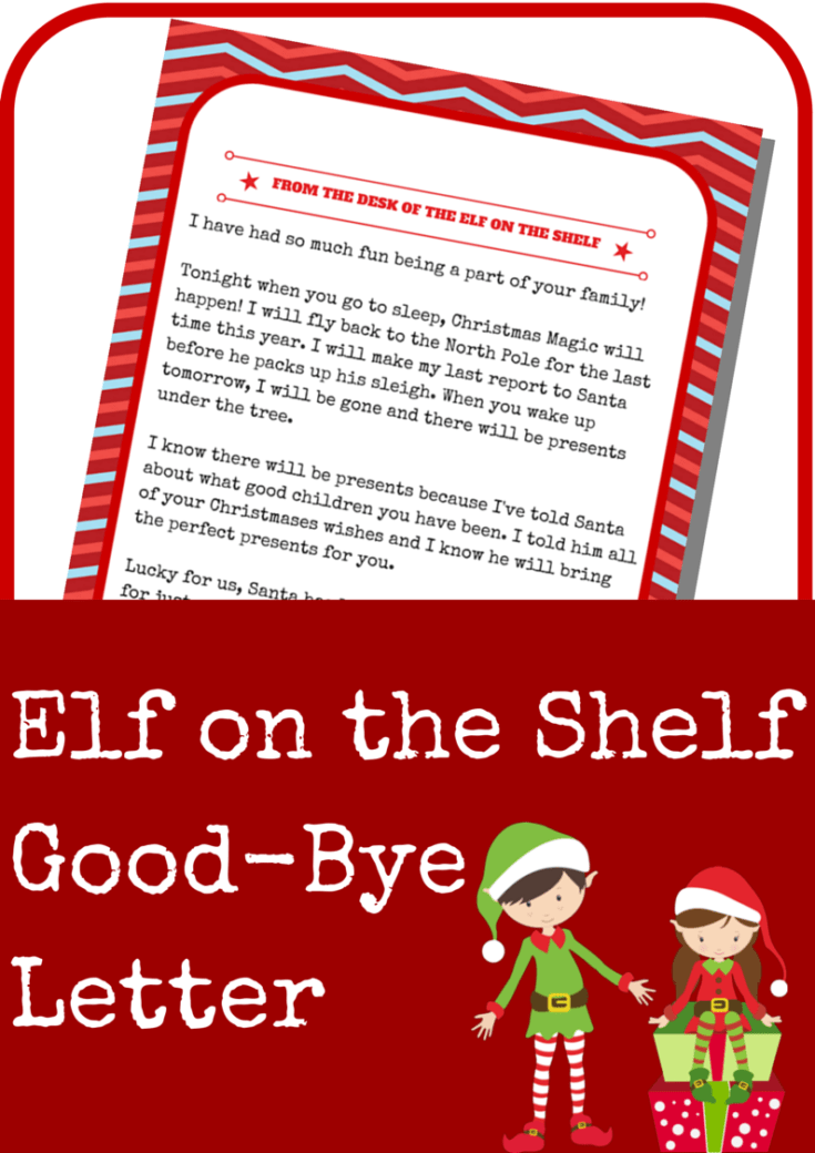 Elf on the Shelf Good-Bye Letter
