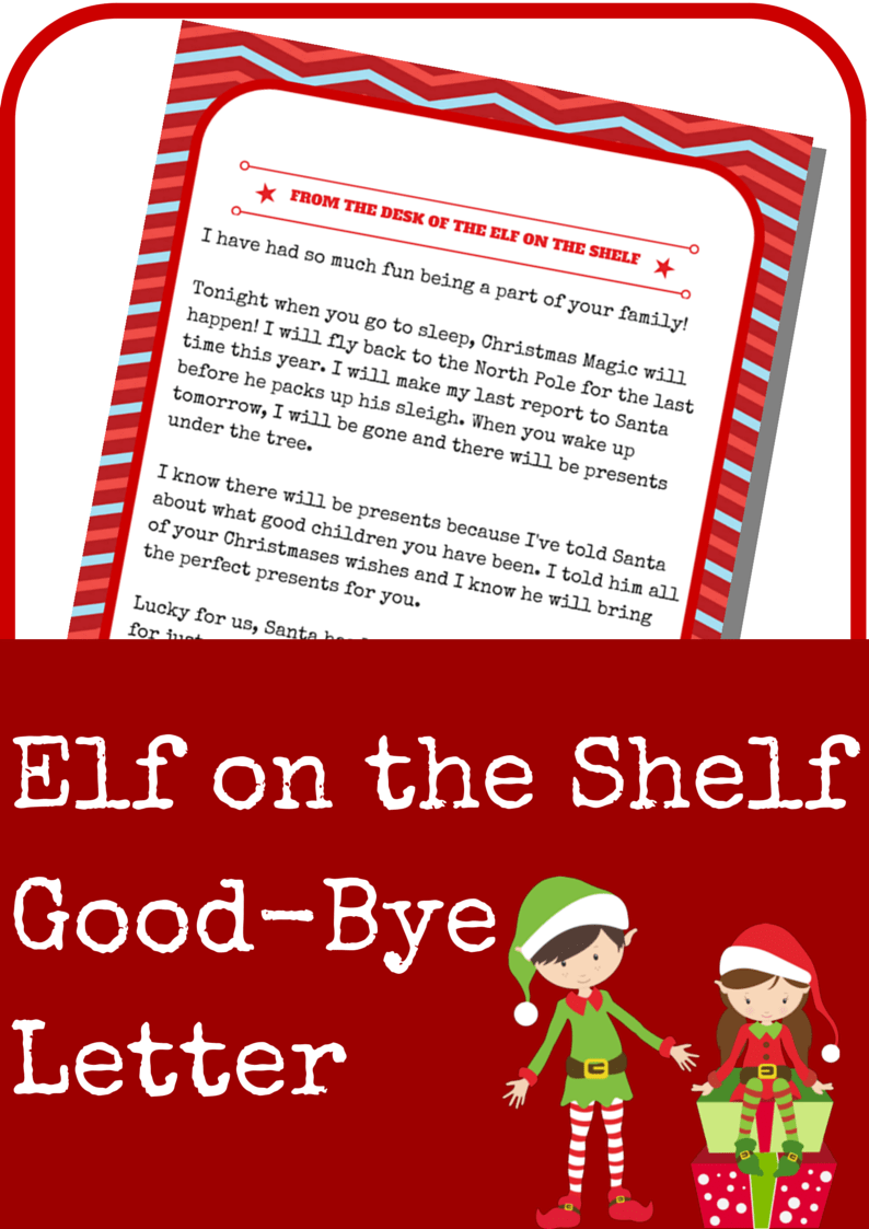 Elf on the Shelf GoodBye Letter A Grande Life