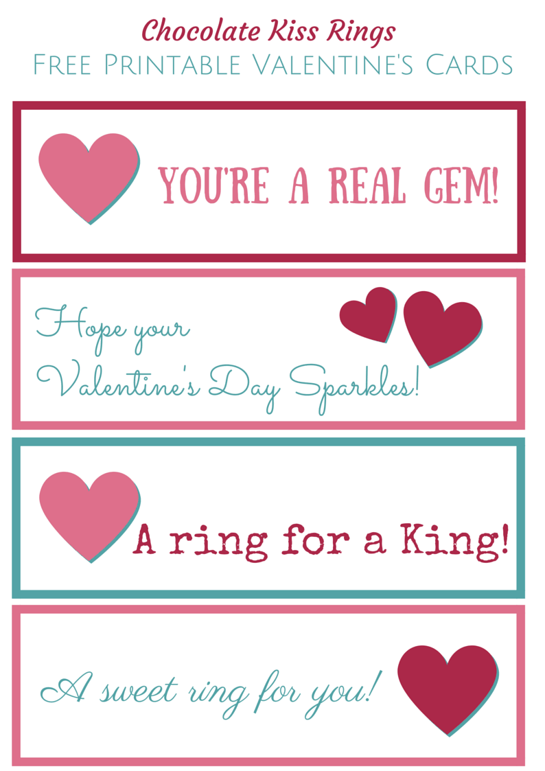 Chocolate Kiss Rings Free Printable Valentine's Cards (3)