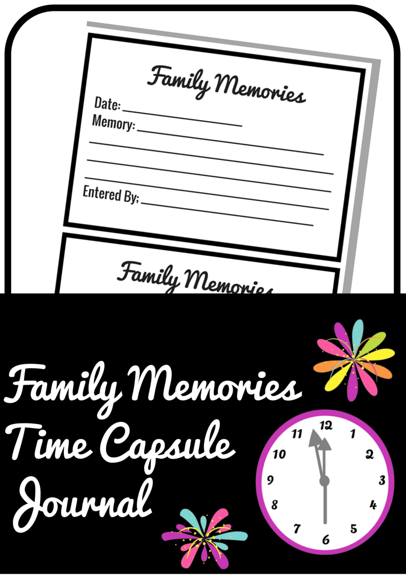 Family Memories Time Capsule Journal