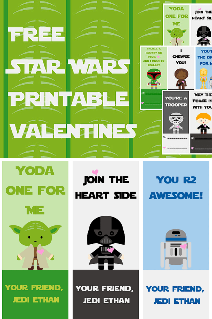 image relating to Star Wars Printable Cards named Free of charge Star Wars Printable Valentines - A Grande Lifetime