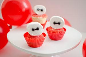 Baymax Big Hero 6 White Cupcakes