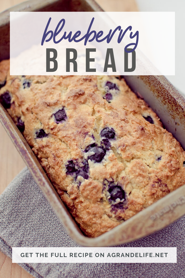 Blueberry Bread is super easy and quick to make from scratch! This moist quick bread is loaded with fresh blueberries.