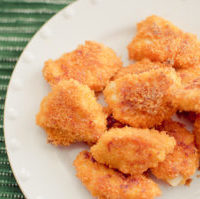 Baked Cheezy Chicken Nuggets
