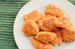 Baked Cheesy Chicken Nuggets