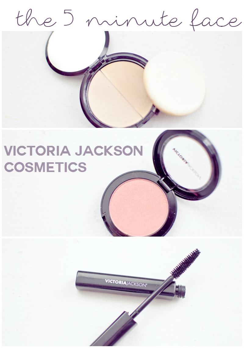 the 5 minute face with victorica jackson cosmetics