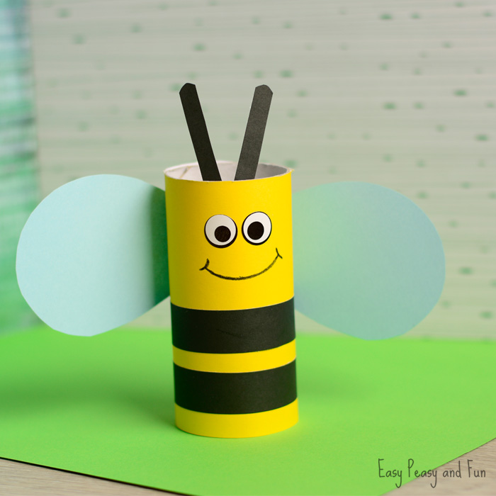Cute-Toilet-Paper-Roll-Bee-Craft