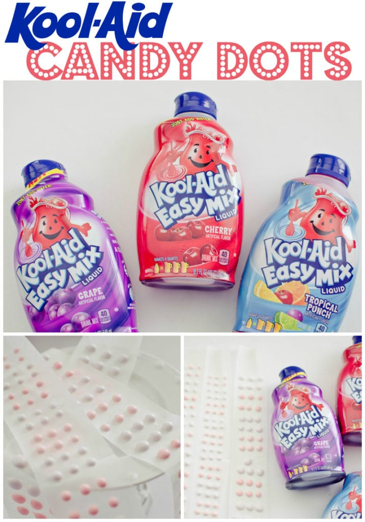 candy dots made with kool-aid