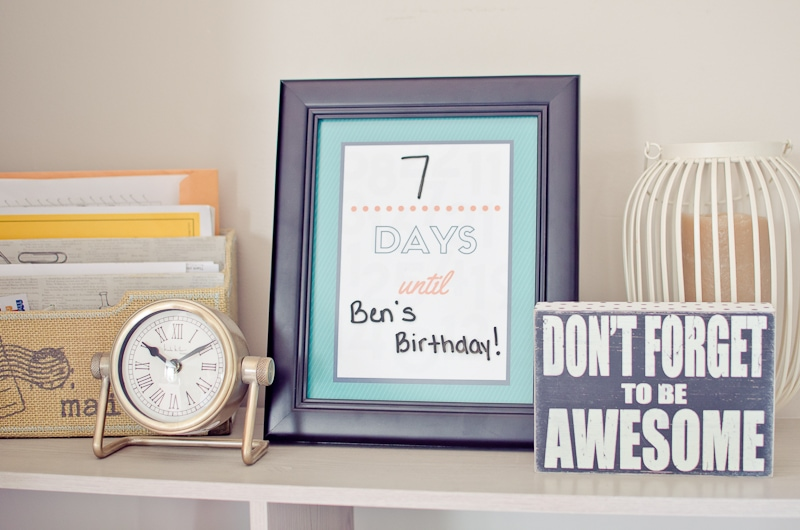 picture regarding Countdown Printable named No cost Printable Blank Countdown - A Grande Existence