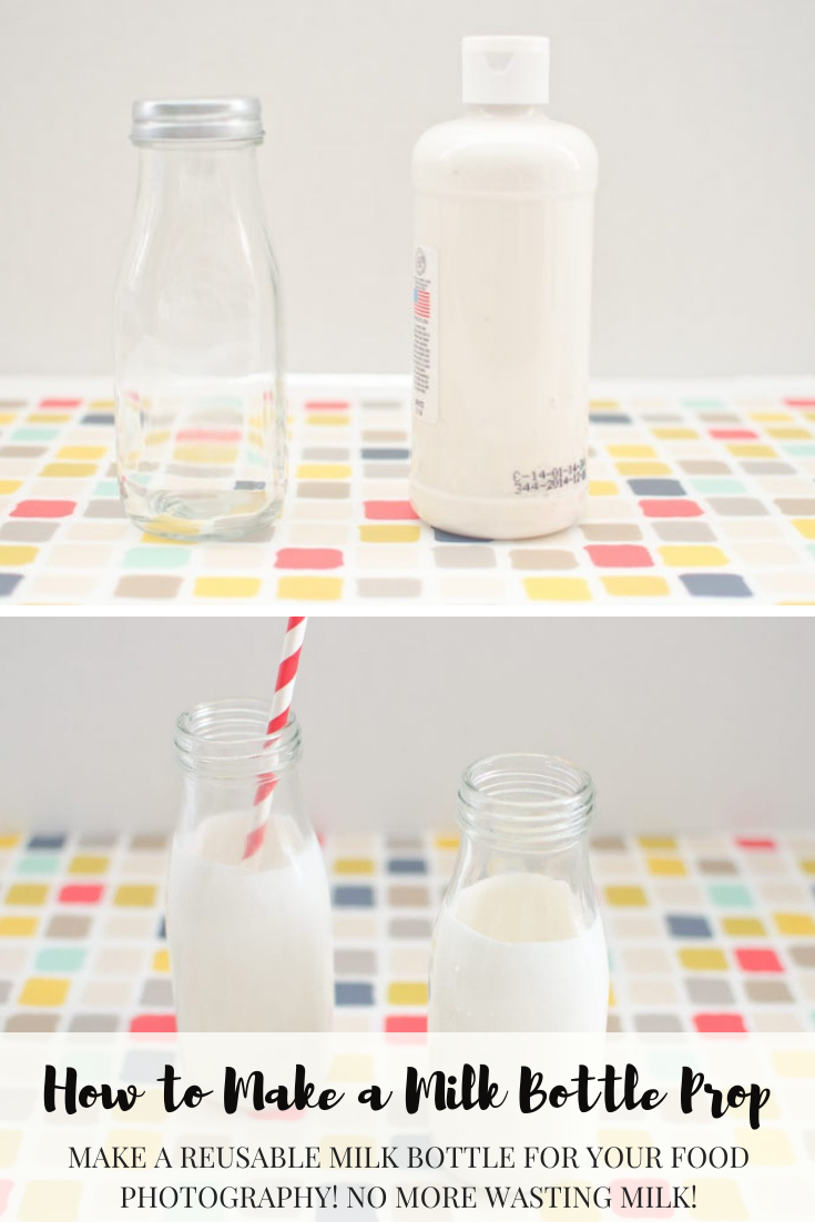 Make a reusable milk bottle for your food photography! No more wasting milk!