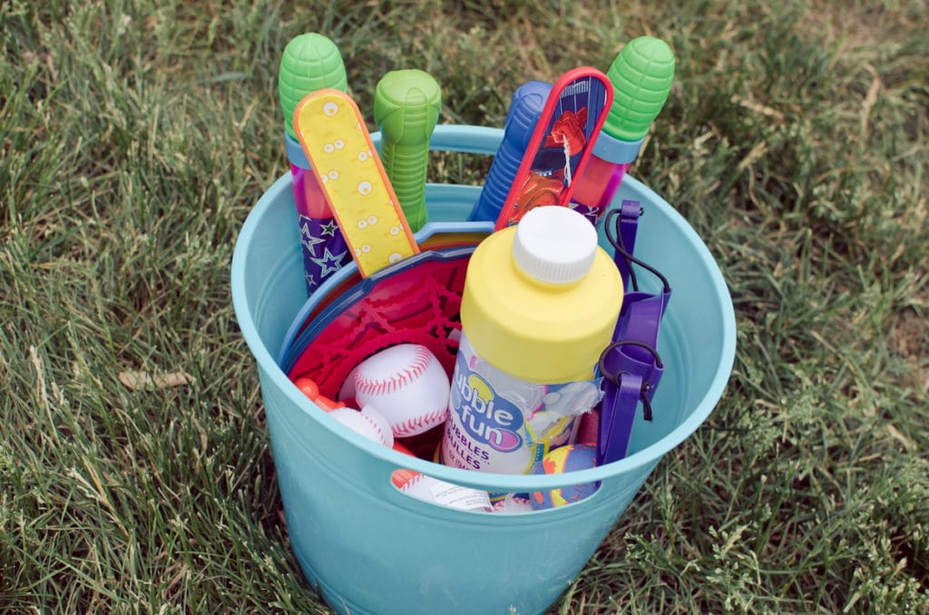 create a summer fun bucket from the dollar store-11