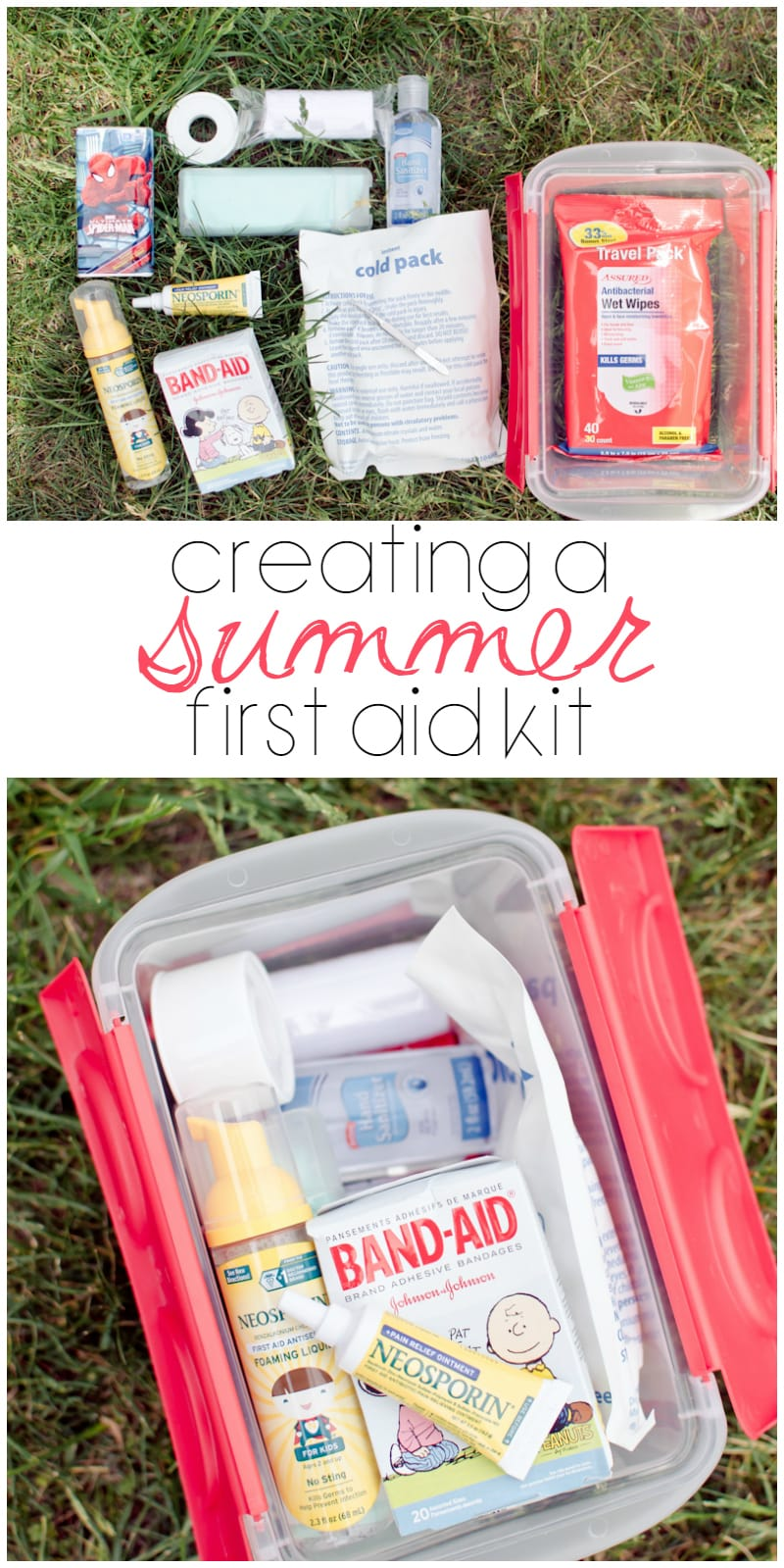 creating a summer first aid kit
