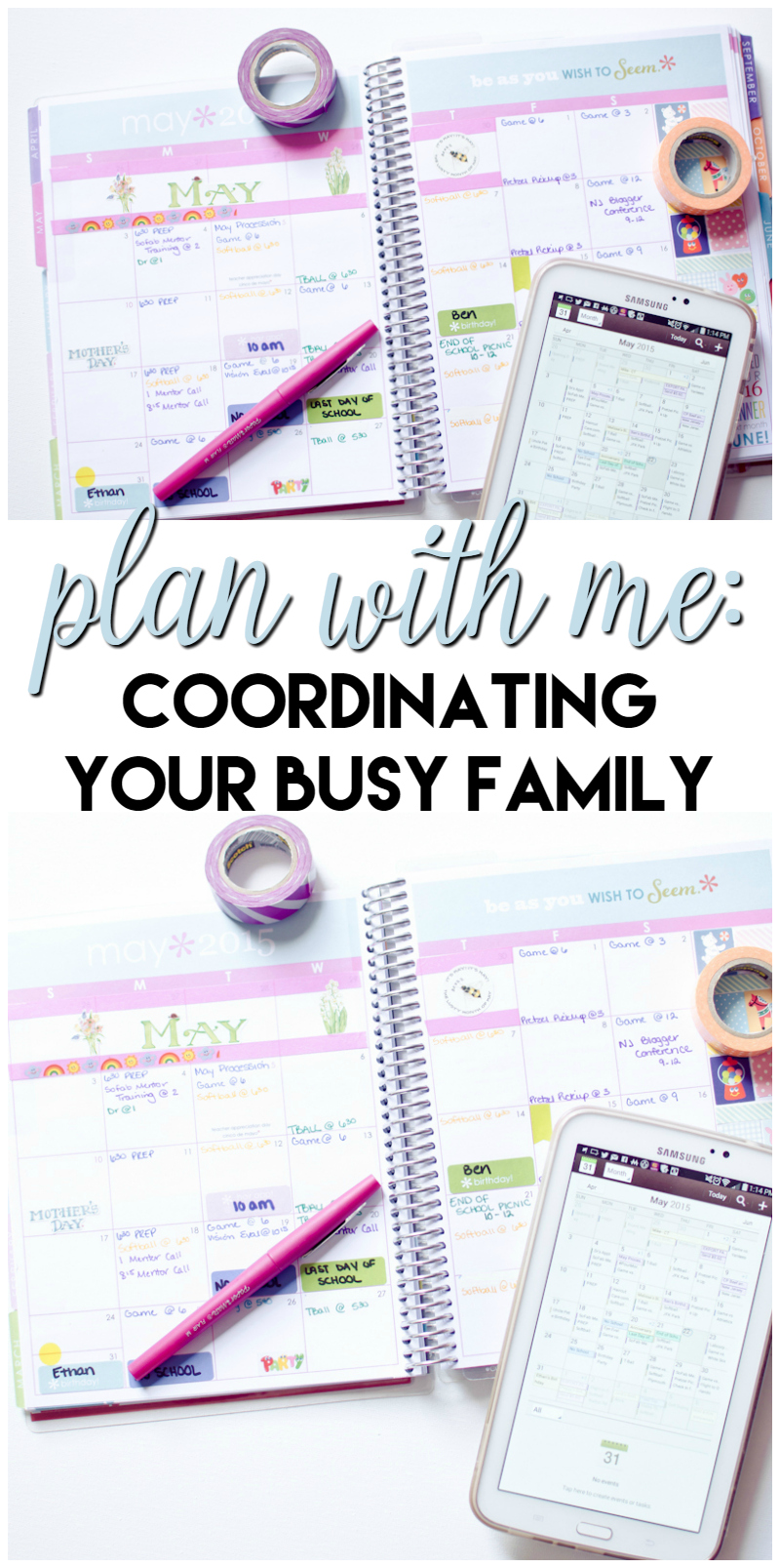 plan with me coordinating your busy family